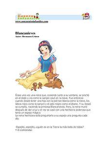 Blancanieves y los 7 enanitos.