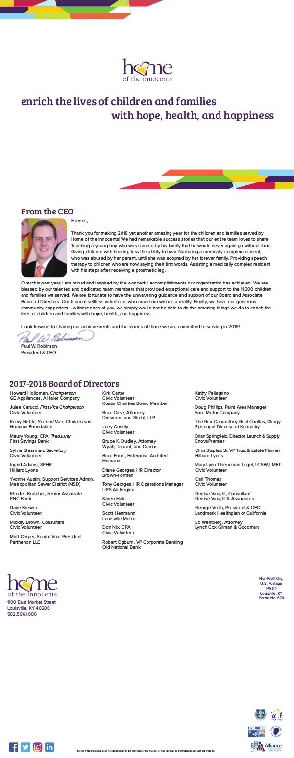 Annual Report 2018 Annual Report