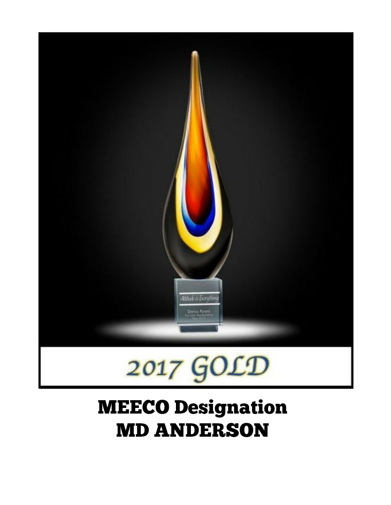 MEECO DESIGNATION REPORT 2017: MD ANDERSON III Issue   May 18, 2017