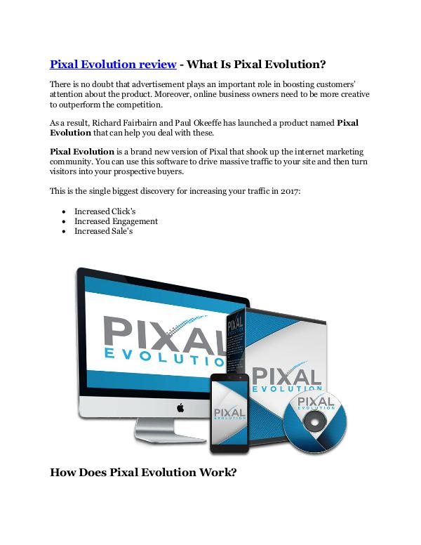 Pixal Evolution review - 65% Discount and FREE $14