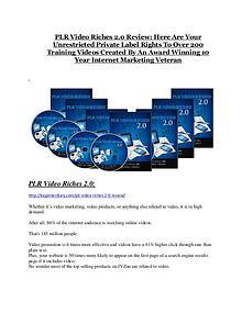 Marketing PLR Video Riches 2.0 reviews and bonuses PLR Video Riches 2.0