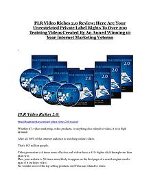 Marketing PLR Video Riches 2.0 reviews and bonuses PLR Video Riches 2.0