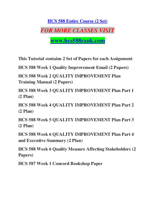 quality improvement plan final paper hcs 588 A+ solution university of phoenix hcs 588 week 6 qi plan part 4 and presentation final paper measuring performance standards - trends write a 500- to.