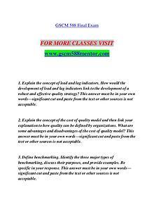 GSCM 588 MENTOR Redefine Possible/gscm588mentor.com