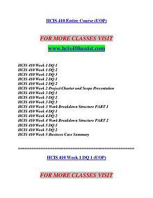 HCIS 410 ASSIST Redefine Possible/hcis410assist.com
