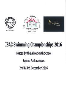 ISAC Swimming Championships 2016