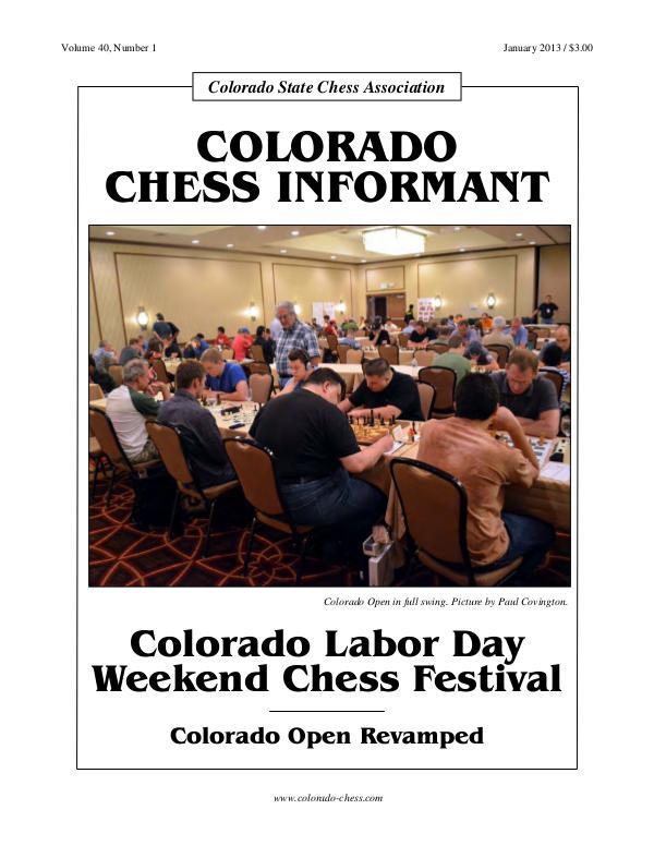 Colorado Chess Informant Enero 2013