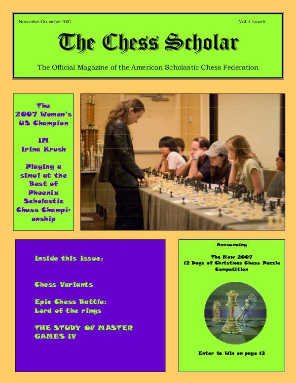 The Chess Scholar Noviembre - Diciembre 2007