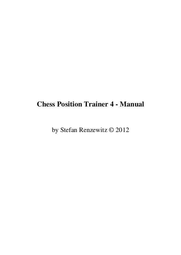 Manual de Chess Position Trainer 4 2012