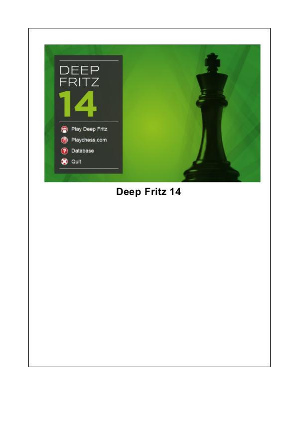 Manual de Deep Fritz 14 2013