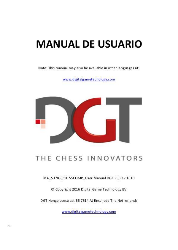 Manual de DGT Pi 2016