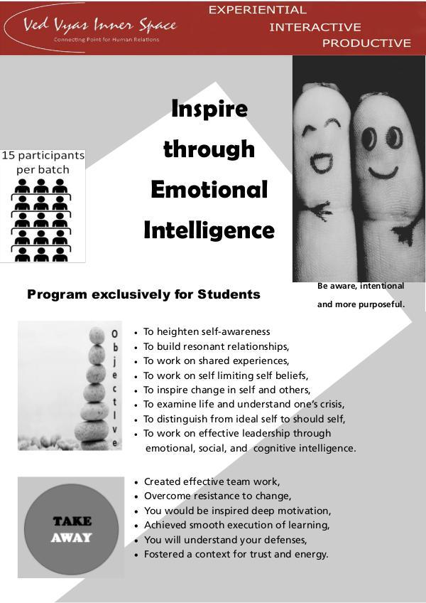 Inspire through Emotional Intelligence EI for Students