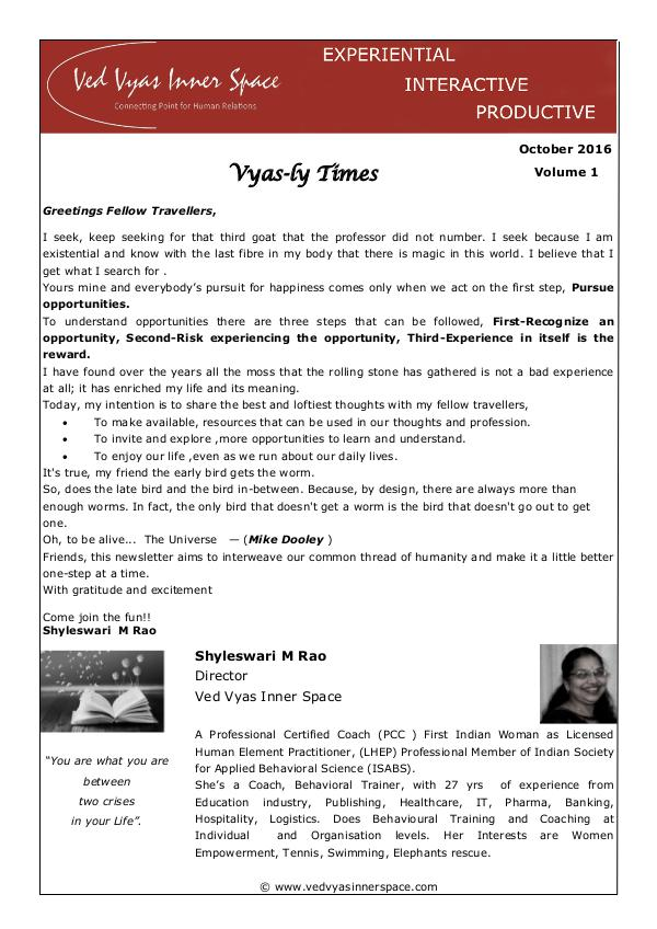 Vyas-ly times ver1 October 2016 volume 1