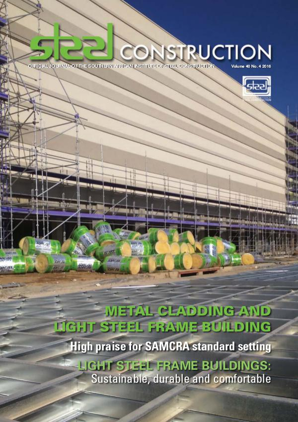Steel Construction Vol 40 No 4 - Metal Cladding and Light Steel Frame