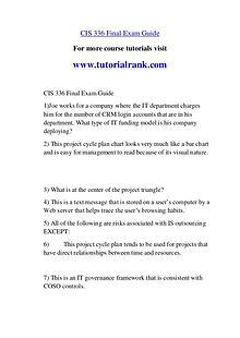 CIS 336 str Course Great Wisdom / tutorialrank.com