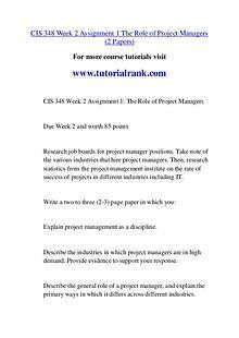 CIS 348 Course Great Wisdom / tutorialrank.com