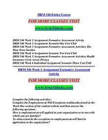 HRM 546 EDU Future Starts Here/hrm546edu.com