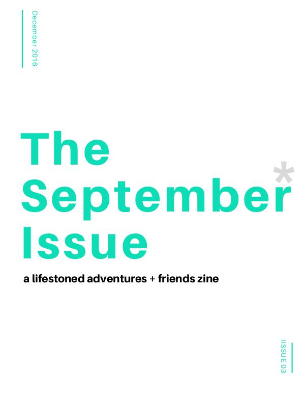 The September* Issue 1