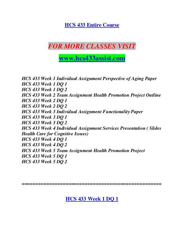 Undergraduate Nursing Studies - HCS 301