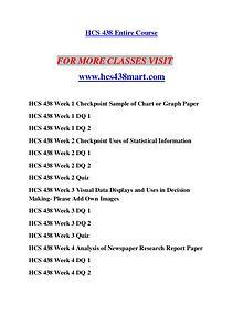 HCS 438 MART Redefine Possible/hcs438mart.com
