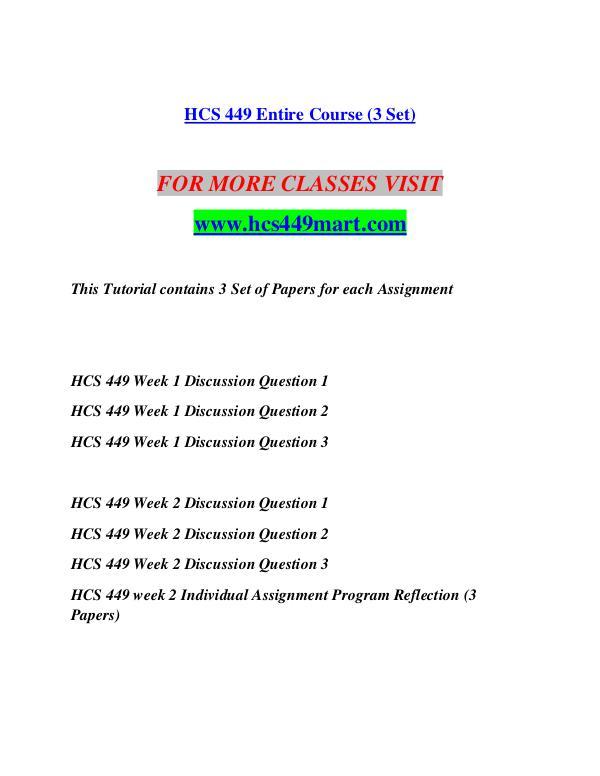 program reflection for hcs 449