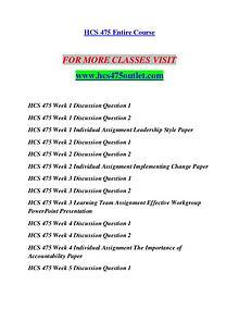 HCS 475 OUTLET Redefine Possible/hcs475outlet.com