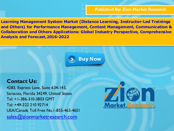 Zion Market Research Learning Management System Market, 2016 – 2022