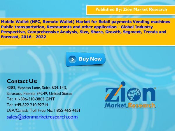 Zion Market Research Mobile Wallet Market, 2016 – 2022