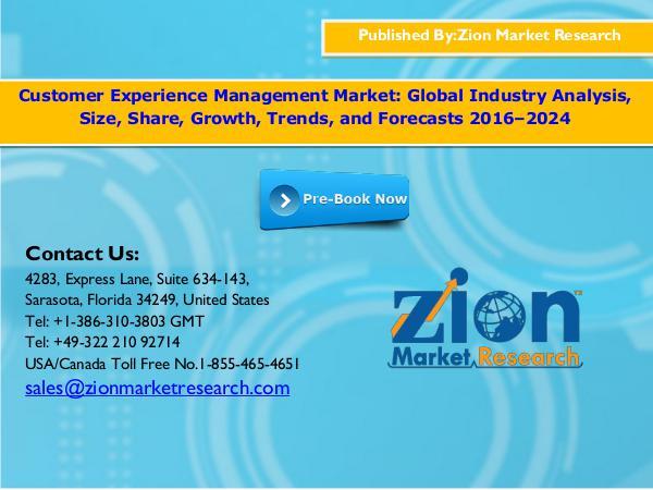 Customer Experience Management Market, 2016–2024