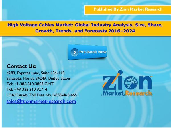 Global High Voltage Cables Market, 2016–2024