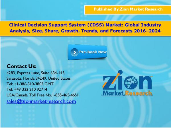 Zion Market Research Global Clinical Decision Support System (CDSS) Mar