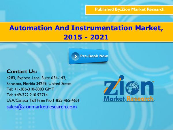 Automation And Instrumentation Market, 2015 - 2021