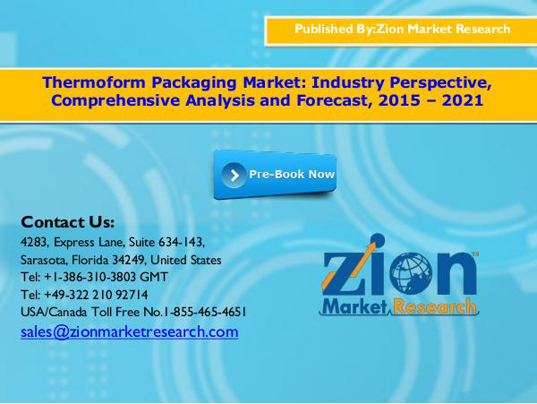 Thermoform packaging market, 2015   2021