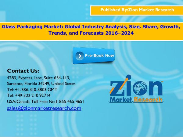 Glass packaging market, 2016 -  2024