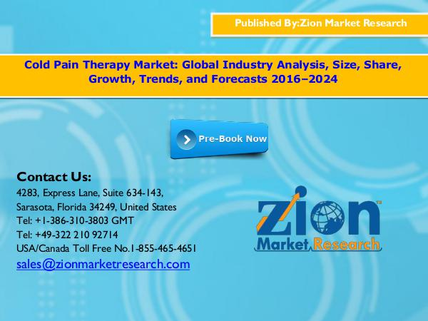 Zion Market Research Cold pain therapy market, 2016 – 2024
