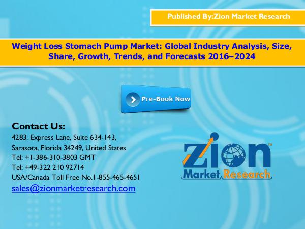 Zion Market Research Weight loss stomach pump market , 2016   Weight lo