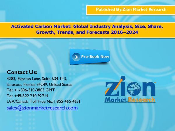 Zion Market Research Activated Carbon Market, 2016–2024