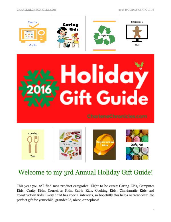2016 Holiday Gift Guide by Charlene Chronicles Holiday Gift Guide 2016
