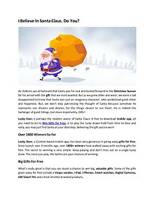 Lucky Stars App- I Believe In Santa Claus. Do You?