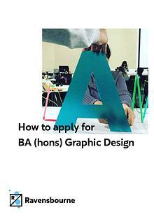 Ravensbourne's BA (Hons) Graphic Design application guide