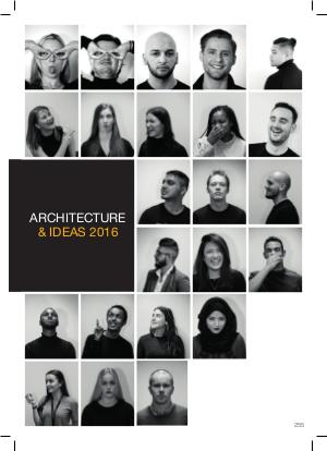Urbis Interview: Ravensbourne's Architecture and IDEAs lookbook URBIS 2016 GRADUATE BOOK