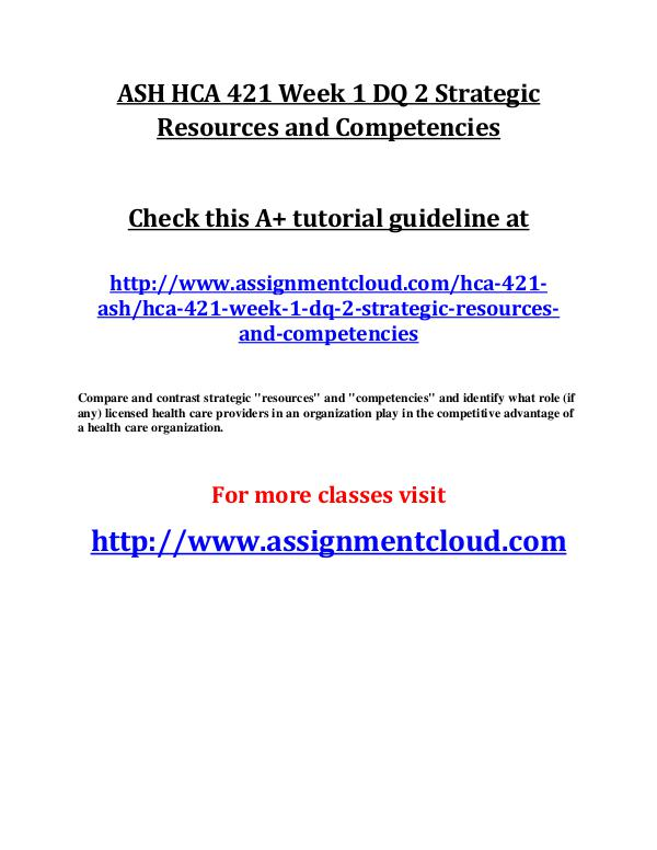 compare and contrast strategic resources and competencies