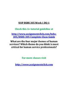 uop bshs 305 entire course