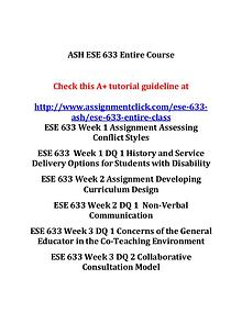 ash ese 633 entire course