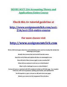 DEVRY ACCT 216 Entire Course