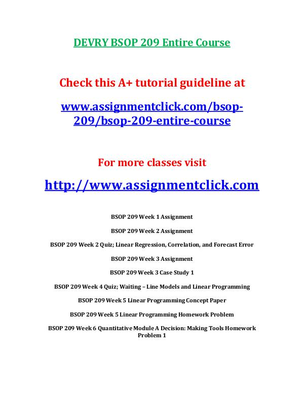 DEVRY BSOP 209 Entire CourseDEVRY BSOP 209 Entire Course DEVRY BSOP 209 Week 1 Case Study 1