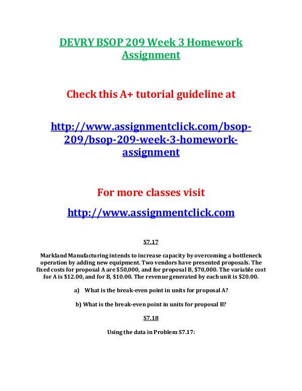 DEVRY BSOP 209 Entire CourseDEVRY BSOP 209 Entire Course DEVRY BSOP 209 Week 3 Homework Assignment