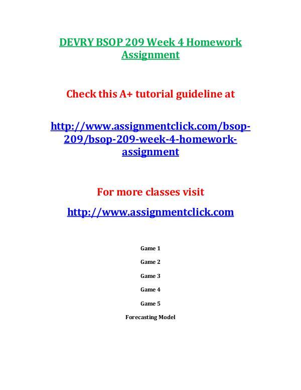 DEVRY BSOP 209 Entire CourseDEVRY BSOP 209 Entire Course DEVRY BSOP 209 Week 4 Homework Assignment