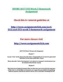 DEVRY ACCT 553 Entire Course