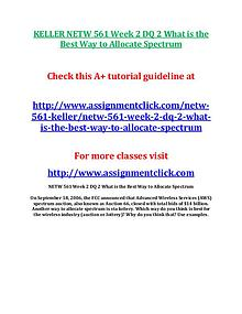 KELLER NETW 561 Entire Course
